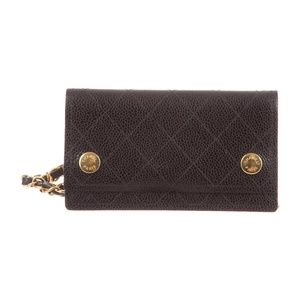 Chanel Vintage Quilted Chain Wallet